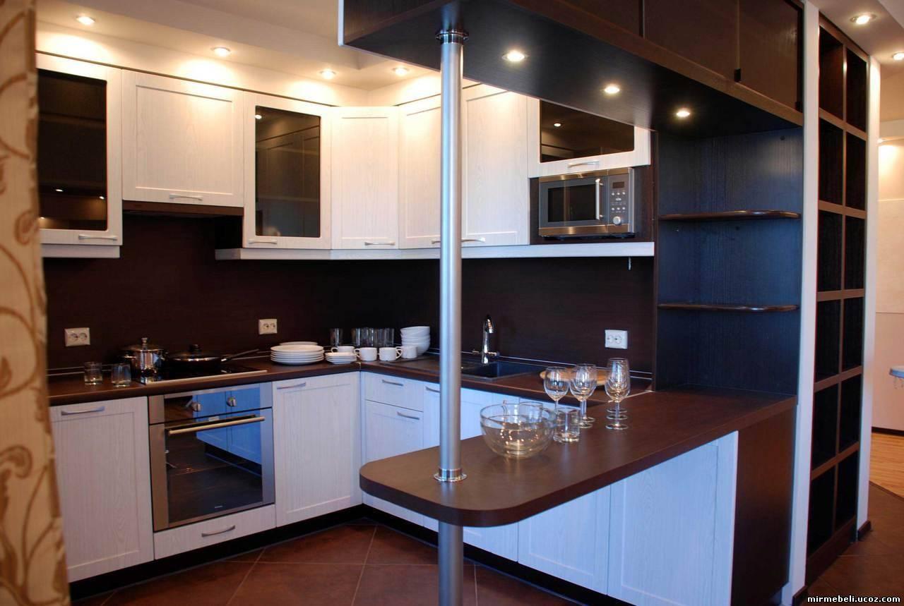 Дизайн кухни 9 кв.м с барной стойкой